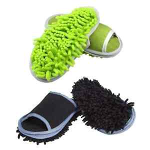 Slipper Microfiber Mopping Shoes Cleaning Tool Size 6 9 (2 Pairs)