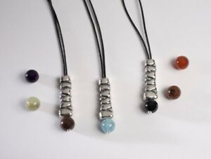 Cairn Necklace Stirling Silver with Stone Bead