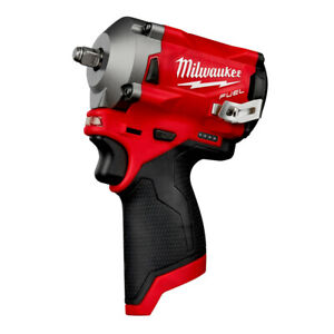 Milwaukee 2554 20 M12 FUEL Li Ion 3 8 in. Stubby Impact Wrench Tool Only New $179.00