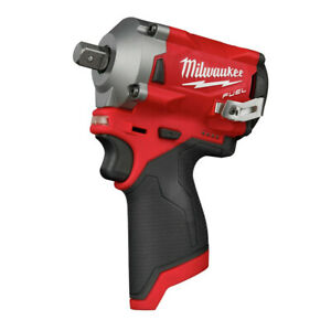 Milwaukee 2555P 20 M12 FUEL Li Ion 1 2 in. Stubby Impact Wrench BT New $167.99