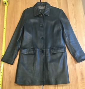 Vintage Nicole Miller Women's Leather Jacket Size M