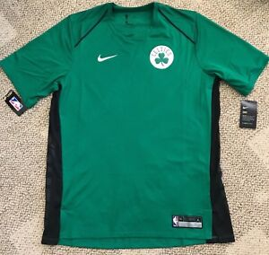 Nike Dry Mens Dri-FIT Short Sleeve Shirt Green Large L NBA Boston Celtics 877435