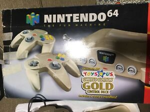 Nintendo 64 Launch Edition 4.5MB Gold Console (NTSC) Toys r Us Exclusive Rare