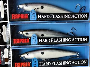 RAPALA  FLAT RAP FLR-10  (Lot of 3) 4