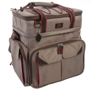 Thermos Insulated Fishing Tackle Bag With Trays Large Soft Organizer Storage Box