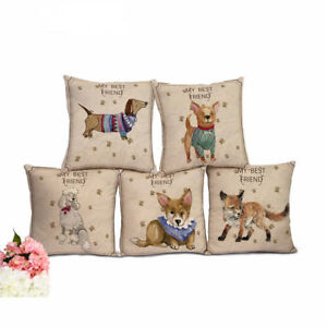 Dachshund Dog Cushions Without Inner Fox Animals Square Cotton Euro Style Chair