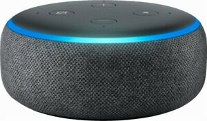 Amazon Echo Dot 3rd Generation w Alexa Voice Media Device - Charcoal BRAND NEW!
