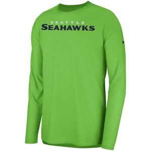 New Nike 2018 NFL Seattle Seahawks Sideline Player Long Sleeve Dri-FIT T-Shirt
