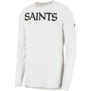 New Nike 2018 NFL New Orleans Saints Sideline Player Long Sleeve Dri-FIT T-Shirt