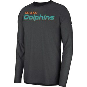 New Nike 2018 NFL Miami Dolphins Sideline Player Long Sleeve Dri-FIT T-Shirt