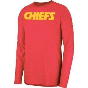 New Nike 2018 NFL Kansas City Chiefs Sideline Player Long Sleeve Dri-FIT T-Shirt