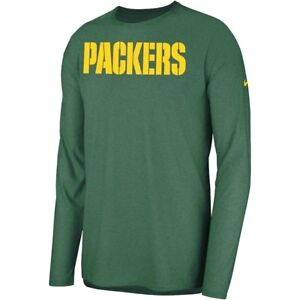 New Nike 2018 NFL Green Bay Packers Sideline Player Long Sleeve Dri-FIT T-Shirt