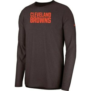 New Nike 2018 NFL Cleveland Browns Sideline Player Long Sleeve Dri-FIT T-Shirt