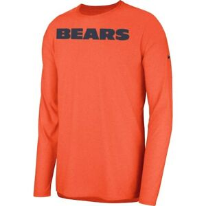 New Nike 2018 NFL Chicago Bears Sideline Player Long Sleeve Dri-FIT T-Shirt