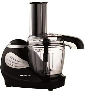 Ovente Electric Mini Food Processor 1.5 Cup with Stainless Blade Black PF1007B