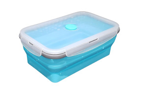 Silicone Collapsible Lunch Bento Box BPA Free Reusable 43 Ounce 1.27L