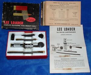 Vintage Lee Loader Hand Loader 3030 Win Rifle Reloading Die Tool Kit 1966