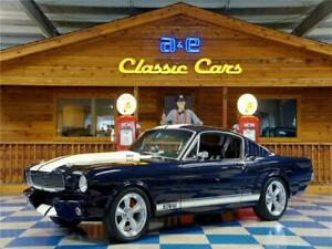 1965 Ford Mustang 392 crate  5 Speed manual Trem 1965 Ford Mustang Fastback 392 EFI – Deep Blue Metallic  Ivory