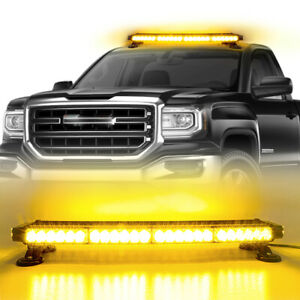 54LED Emergency Traffic Advisor Double Side Warning Strobe Light Bar Amber