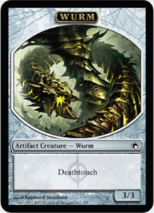 MTG X1: Wurm Token Deathtouch , Scars of Mirrodin, C, MP