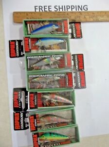 OLDER Rapala Countdowns CD-5 Crankbaits  Fishing Lures LOT OF 7 HARD TO FIND