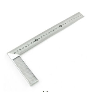 Practical 30cm Aluminum Alloy Right Measuring Rule Tool Angle Square Ruler S $7.36