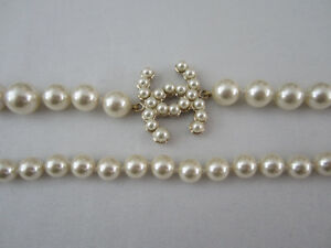 CHANEL Coco Mark Faux Pearl Gold Plated Long Necklace BNWOT (1600$)100% Auth