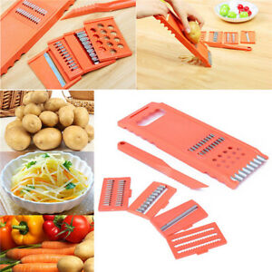 6Pcs Vegetable Fruit Potato Mandolin Slicer Peeler Dicer Cutter Chopper Grater