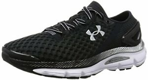 Under Armour Men's Speedform Gemini 2 Running Shoe Black White Metallic Silv