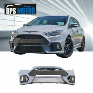 RS Style PP Front Bumper Body Kit Lip Grill Conversion For 2015-18 Ford Focus