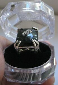 Turkish Ladies Handmade Jewelry 925 Sterling Silver Black Onyx Ring Size 8