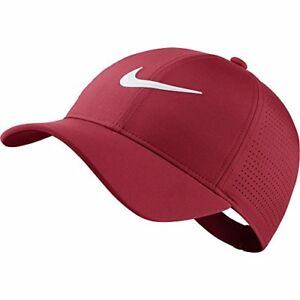 NIKE Women's AeroBill Legacy 91 Perforated Cap Tropical PinkAnthraciteWhite