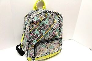 BETSEY JOHNSON Large Backpack Clear ISEEU Whales Weekender School Diaper Bag NWT