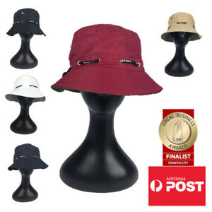 Unisex Outdoors Bucket Hat For Fishing & Hiking With Adjustable Drawcord