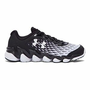 Under Armour Boy's Micro G Spine Disrupt Running Shoe BlackWhiteWhite