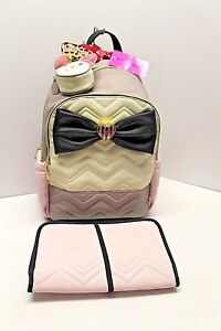 BETSEY JOHNSON DIAPER BAG BACKPACK WEEKENDER LUGGAGE NWT $158