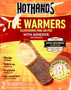 HotHands Adhesive Toe Warmers 8 Hours Pure Heat Lot of 7 16 32 or 72 Pairs