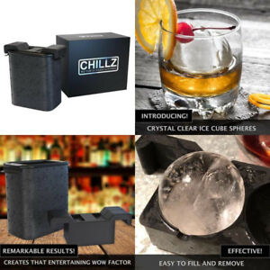 Ice Ball Mold Maker Shapes 2 Large Ice Spheres For Whiskey Barware Crystal Clear