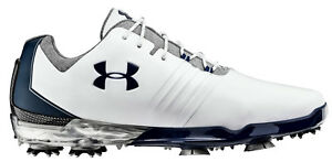 NEW Under Armour Jordan Spieth Match Play WhiteBlue Golf Shoes Mens Size 12 W