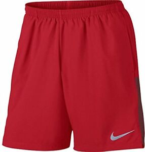 NIKE Mens Running Pull On Shorts Red(856838-657)Reflective Silver