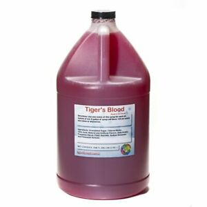 Tigers Blood Ready to Use Shaved Ice or Sno Cone Syrup Gallon (128 Fl Oz)