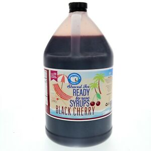 Black Cherry Ready to Use Shaved Ice or Sno Cone Syrup Gallon