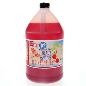 Red Raspberry Ready to Use Shaved Ice or Sno Cone Syrup Gallon