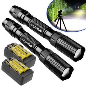 900002000010000Lumens LED Flashlight Torch Zoomable Outdoor Light Lamp USA