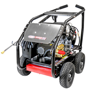 Simpson SPW5050HCGLRC 5000 PSI (Gas-Cold Water) Gear Drive Large Roll Cage Pr...