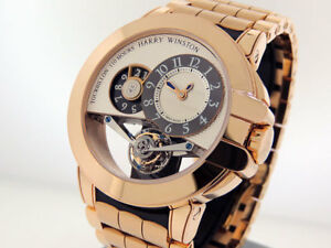Harry Winston Ocean Tourbillon BigDate OCEMTD45RR001 18k Rose Gold $212200 NIB