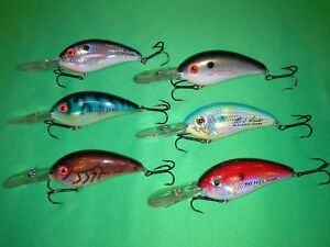 Excalibur Bill Dance Fat Free Shad #8 old production Lot of  6  rarity