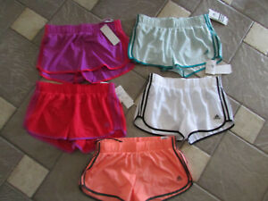 NEW LOT 5 ADIDAS RUNNING SHORTS ATHLETIC SHORTS WOMENS M W BUILT IN BRIEF