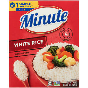 2 Packs Minute White Rice Easy Fast Healthy Lunch Big Bulk Party Size 2X72 Oz
