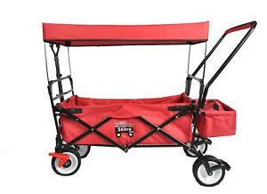 FOLDING PUSH/PULL SPORT WAGON WITH CANOPY PLUS FRONT BRAKES
